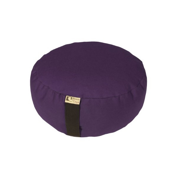 Bean Products Zafu Round Yoga Meditation Cotton Cushions Made In USA Purple