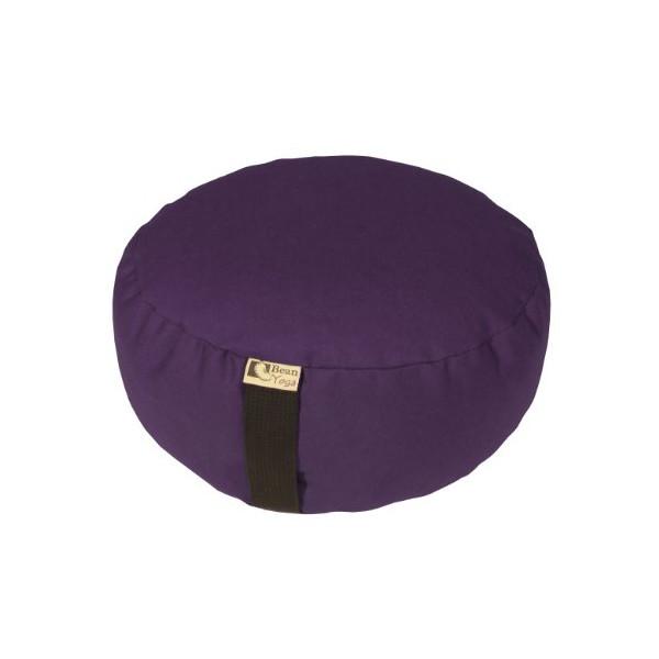 Bean Products Zafu Round Yoga Meditation Cotton Cushions Made In USA Purple