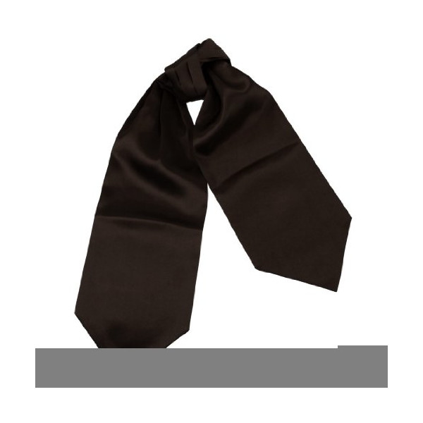 DRA7E01E Dress Presents Idea Brown Solid Mens Ascot Handsome Accessories Cravat Classic Series for Xmas Day By Dan Smith