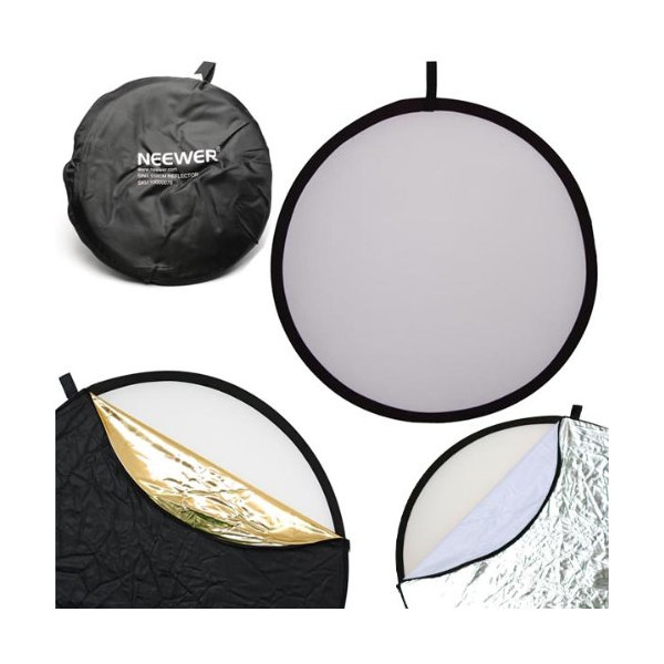 "Neewer 110CM 43"" 5-in-1 Collapsible Multi-Disc Light Reflector"