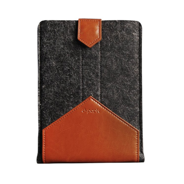 Sleeve Case Cover by Pure Wool Felt and Vegetable Tanned Leather with Stand Up Feature