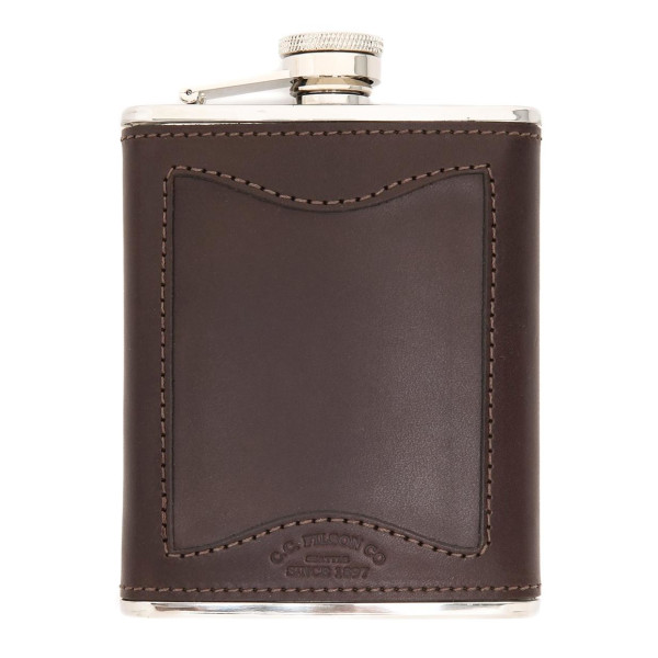Filson Leather and Stainless Steel Flask
