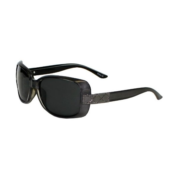 Polarized It's All Good Women's Astarte Sunglasses (Gloss Crystal with Back Spray Pearlized Smoke and Black, Smoke Lens)