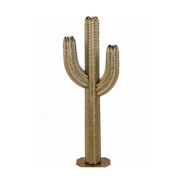 Desert Steel Saguaro Cactus Tiki Torch, 5-Feet