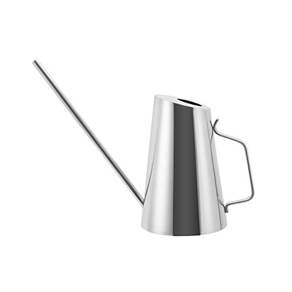 Mkono Stainless Steel Watering Can Modern Style Long Spout Watering Pot, 0.4-Gallon/1.5-Liter