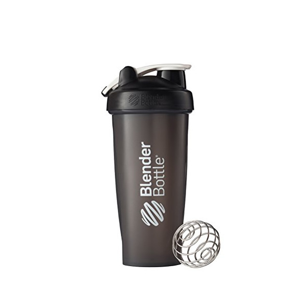 BlenderBottle Classic Loop Top Shaker Bottle, Black, 28 Ounce