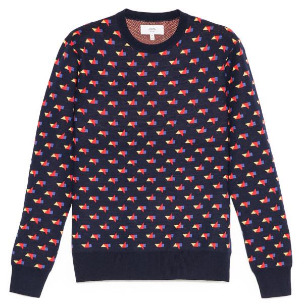 Jack Spade Tangram Crew Neck Sweater, Primary Multi