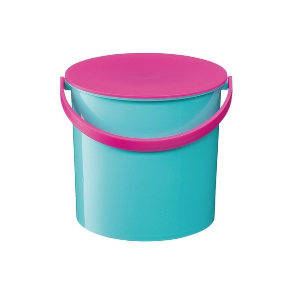 Like-It Colorful Bucket with Lid, Mint Blue