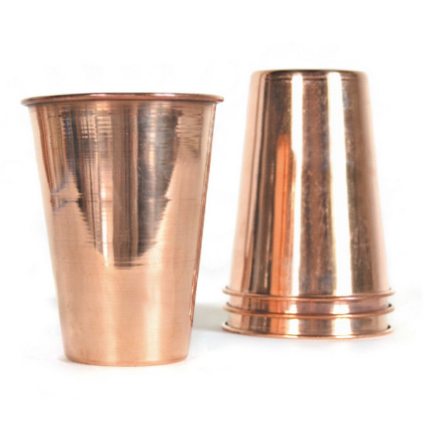 Handcrafted Copper Glasses, Set of 4