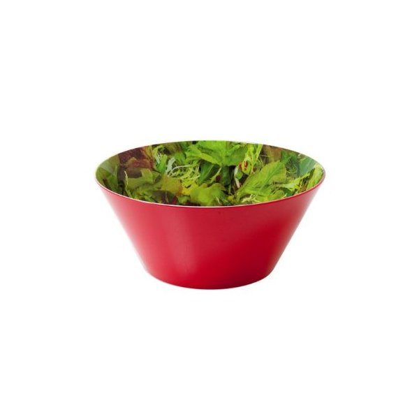 Present Time Mixed Salad Print Melamine Bowl, Large