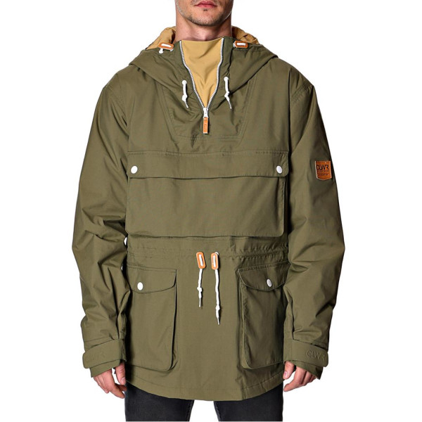 Colour Wear Men's Anorak Large Olive