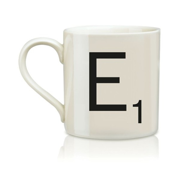 Wild and Wolf Ltd Scrabble Alphabet Mug - E * Harsboro Coffee Mug Beverage SCR005