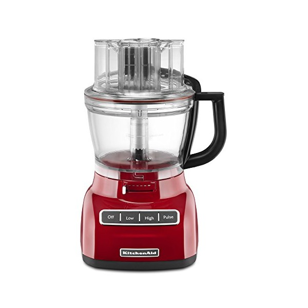 KitchenAid KFP1322ER 13-Cup Food Processor with Exact Slice System, Empire Red