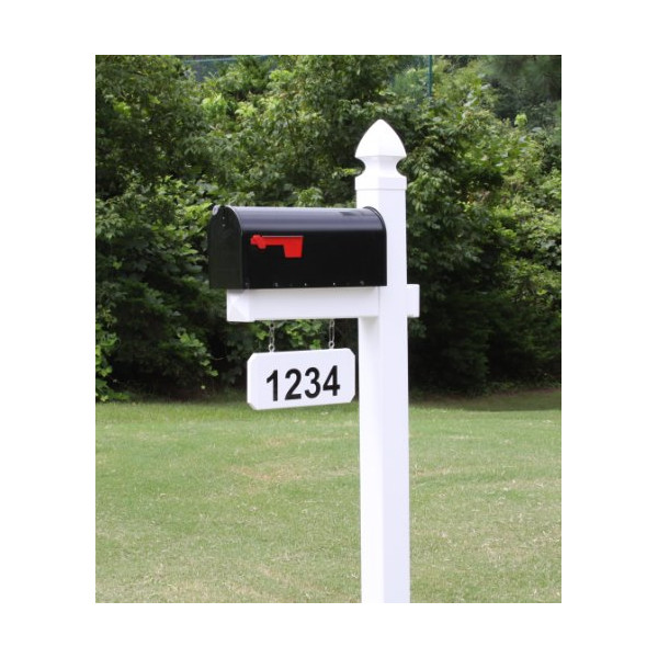 The Loudon Vinyl / PVC Mailbox Post - White (Includes Mailbox)