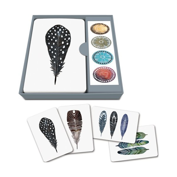 Studio Oh! Notecard Set, Quills, Box of 12
