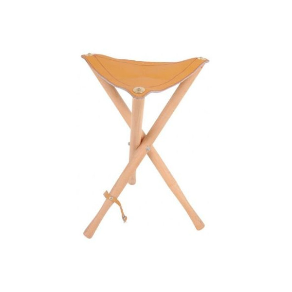 LEATHER SEAT WOOD STOOL Drafting, Engineering, Art (General Catalog)
