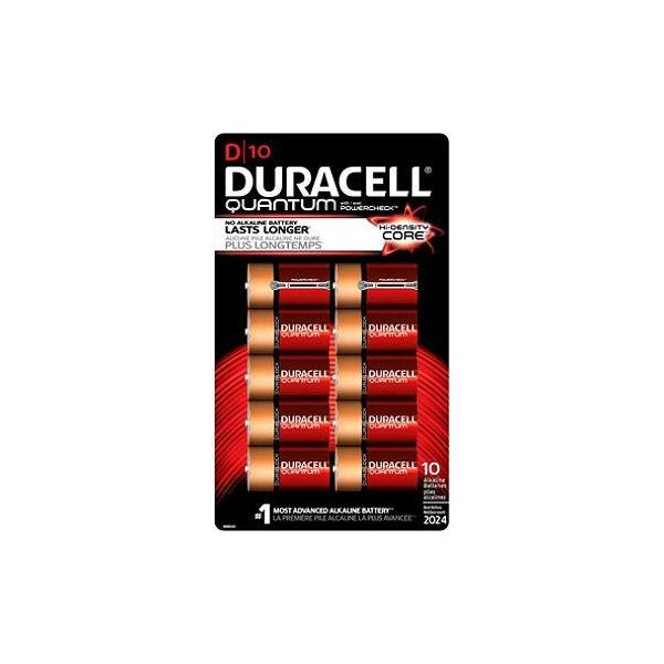 Duracell Quantum D Alkaline Batteries 10 batteries