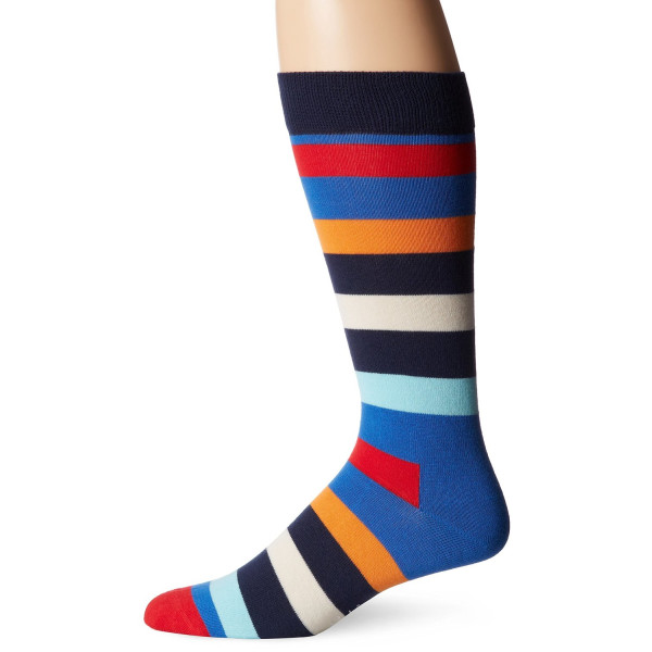 Happy Socks Men's Combed Cotton Stripe Crew Sock
