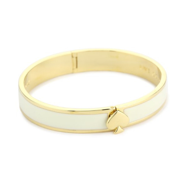 Kate Spade New York Cream Hinge Bangle Bracelet, 7""