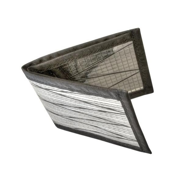 Flowfold Men's Sailcloth Slim Front Pocket Bifold Billfold Wallet (Polar)