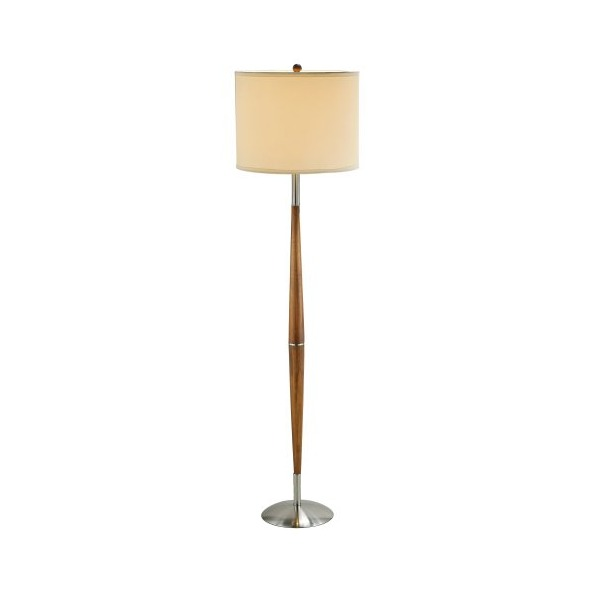 Adesso 3341-13 Hudson Floor Lamp, Dark Maple