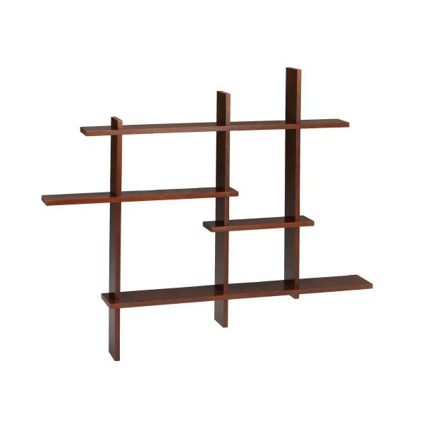 Standard Contemporary Display Shelf, STANDARD, MAHOGANY