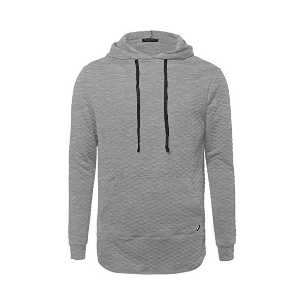 Long Sleeve Stylish Hoodie With Side Zipper Detail Hgrey L Size