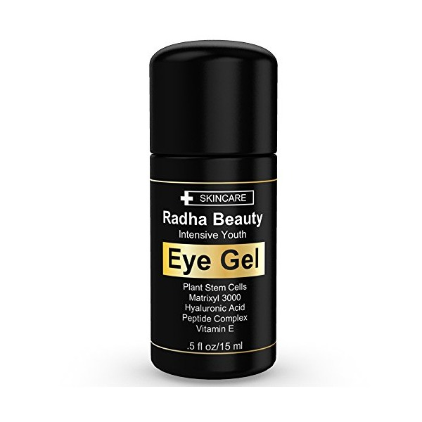 Eye Cream for Dark Circles, Puffiness, Bags & Wrinkles - The most effective eye gel for every eye concern - All Natural - .5 fl oz