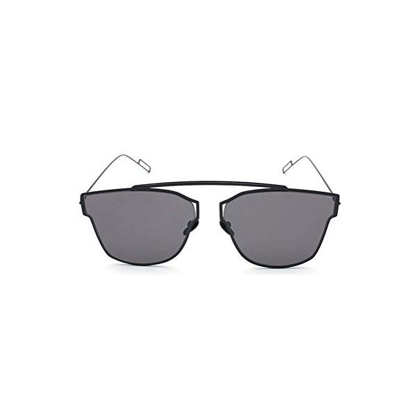 GAMT Women and Men Designer Mirroer Lens Sunglasses Black