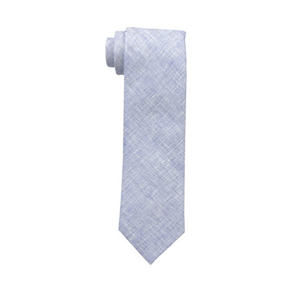 Tommy Hilfiger Linen Solid Tie, Navy, One Size