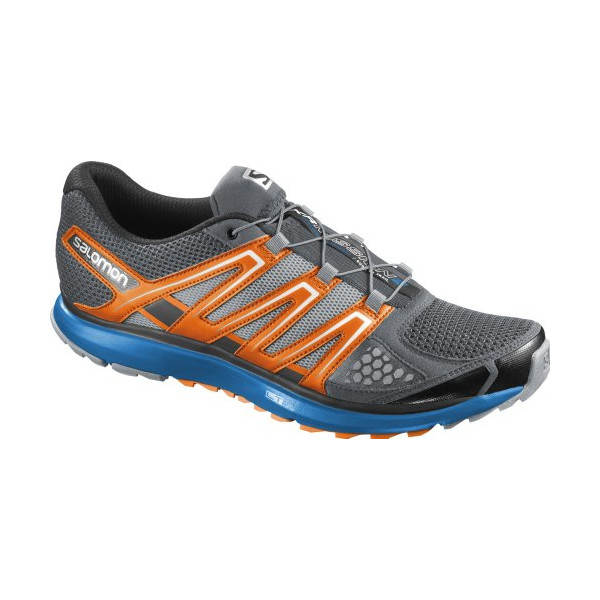 Salomon Men's X-Scream Trail Running Shoe,Pearl Grey/Union Blue/Black,13 M US
