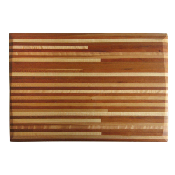 Handmade Cutting Board, Solid Hardwood, Cherry/Maple