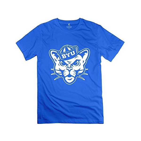 XY-TEE Men's Tee Brigham Young University Provo Cat RoyalBlue Size L