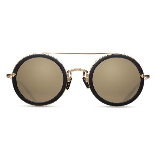 Matsuda M3039 Round Gold Mirror Sunglasses