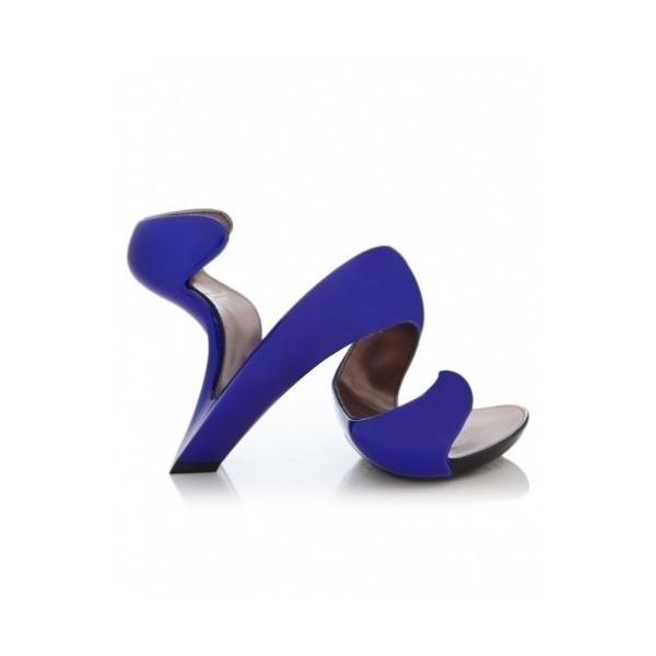 Julian Hakes Women's Mojito Metallic Shoes 5UK/38EU Blue
