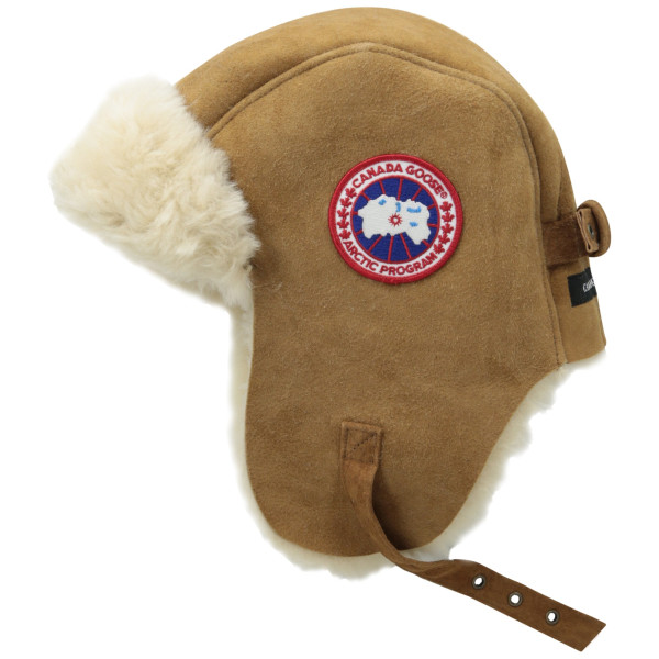 Canada Goose Suede Shearling Pilot Hat, Natural