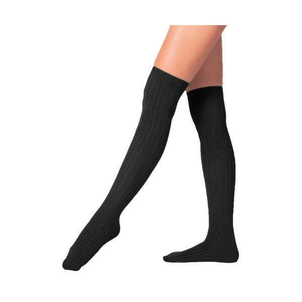 American Apparel Ribbed Modal Over-the-Knee Sock - Black / One Size
