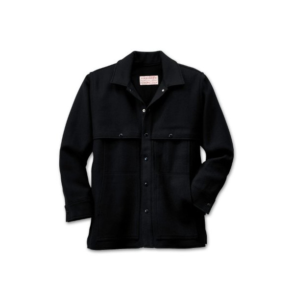 Filson Wool Cape Coat 10048BL - Black