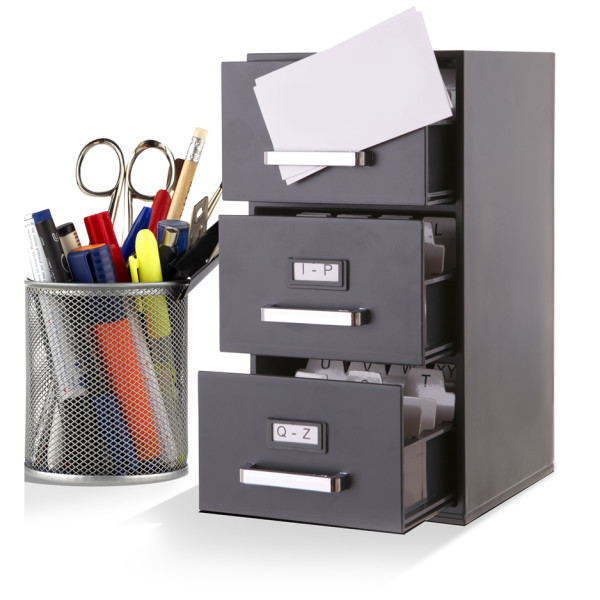 3-Drawer Mini Filing Cabinet