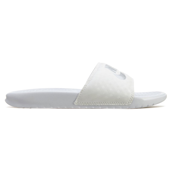 Nike Benassi JDI Slide Women's Sandals White/Metalic Silver