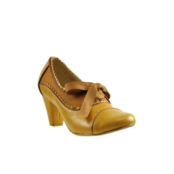 Chelsea Crew Madison Mid-heel Oxford Pump (37EW/ 6US, Mustard)