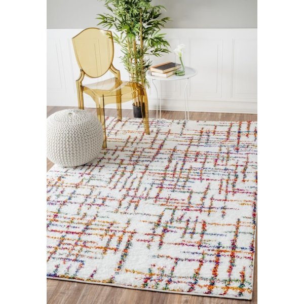 "Soft and Plush Multi Kids Shag Ivory Rug, (7' 10"" x 11' 2"")"