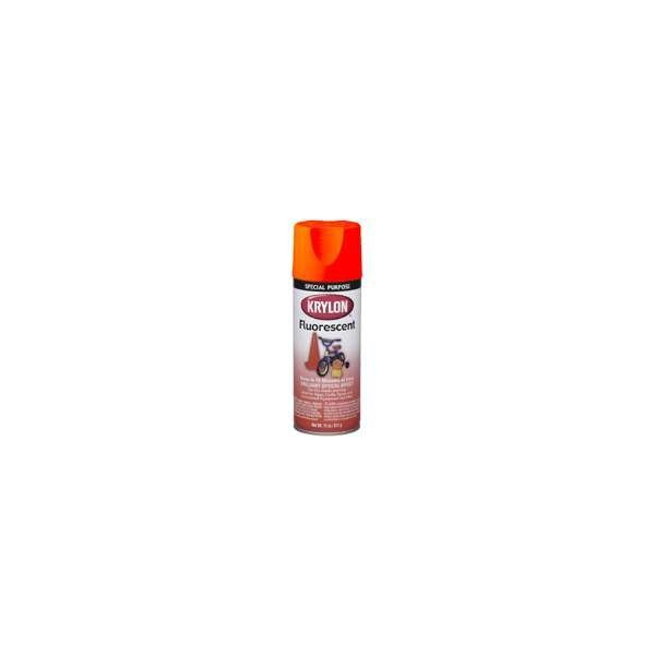 Krylon 3102 Yellow-Orange Fluorescent Paint - 11 oz. Aerosol