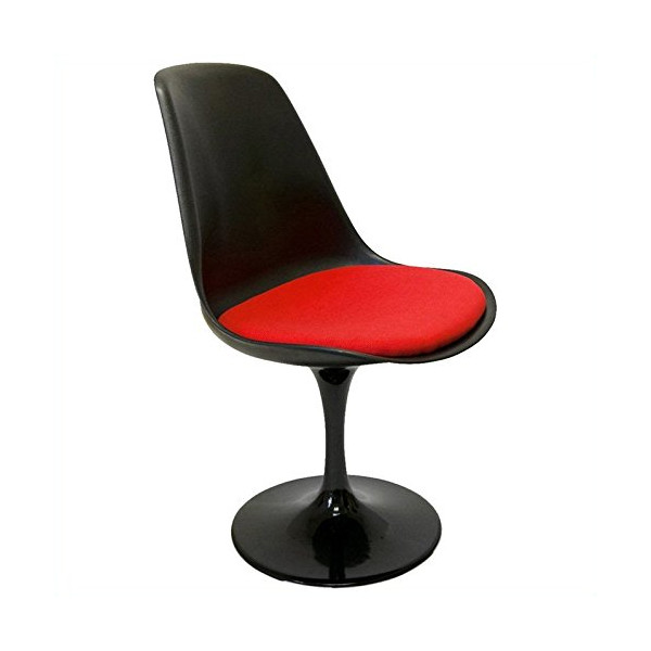 AEON Furniture Melina Side Chair in Matte Black and Red