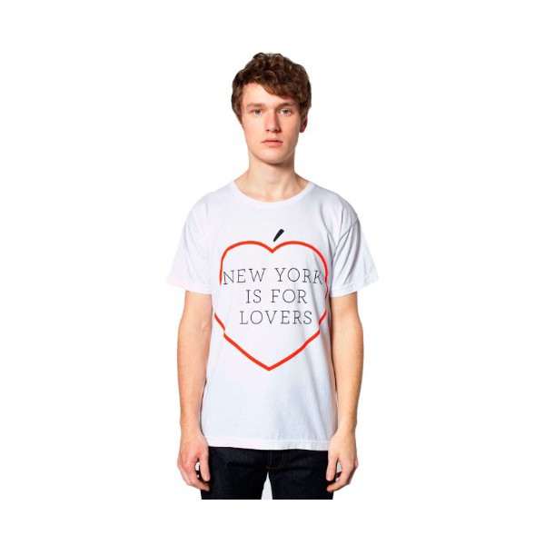American Apparel Screen Printed Power Washed Tee, NYC Lovers
