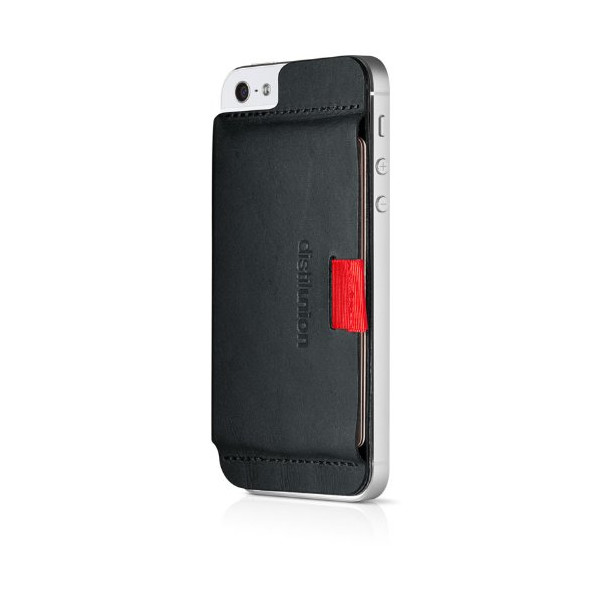Distil Union - Wally Stick-On Wallet for iPhone 5/5S - Ninja Black