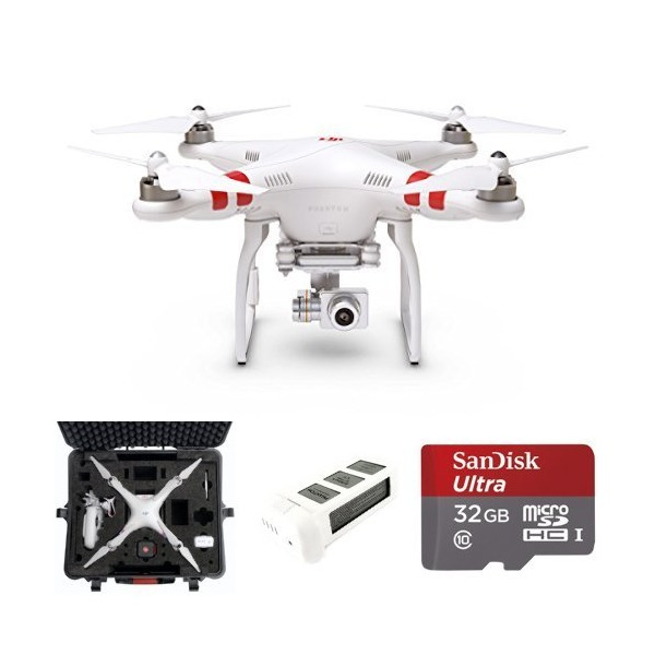 DJI Phantom 2 Vision+ V3.0 Quadcopter with FPV HD Video Camera, 3-Axis Zenmuse H3-3D Gimbal, Hard Case, Spare Battery, and Memory Card
