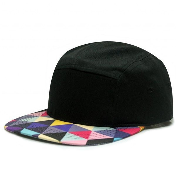 City Hunter Cn360 Triangle Pattern 5 Panel Biker Hat