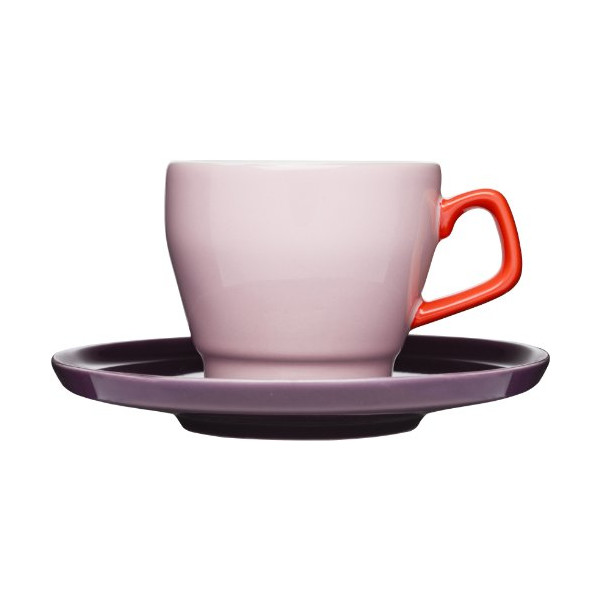 Sagaform POP Stoneware Coffee Cup and Saucer, 8-1/2-Ounce