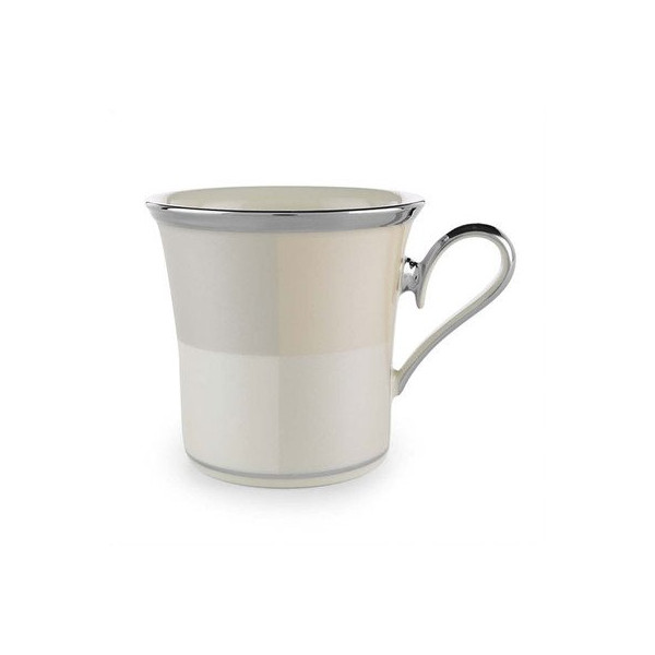 Lenox Ivory Frost Platinum Banded Ivory China Accent Mug